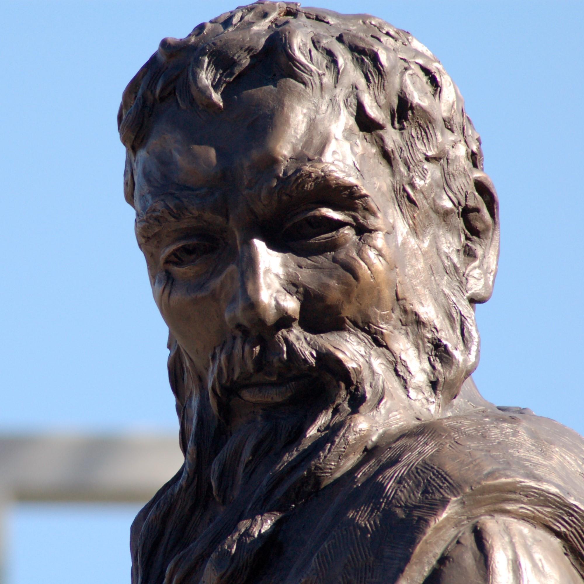 Saint peter statue   face  square