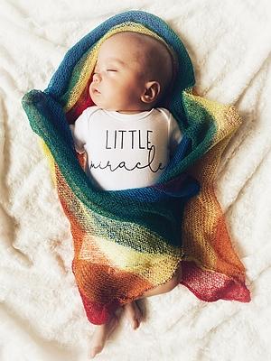 Miracle rainbow baby