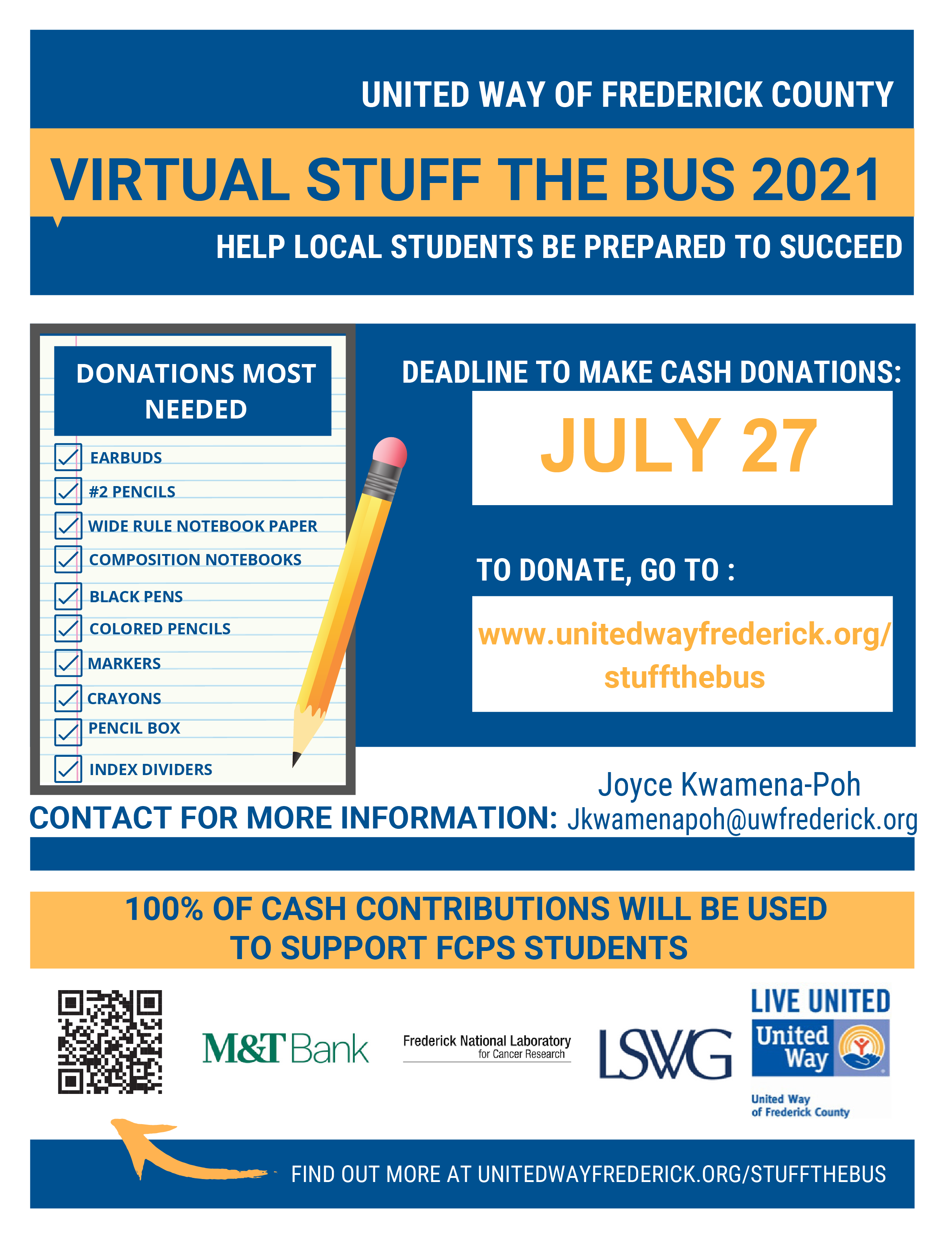 Stuff the bus donations flyer 7.8.21