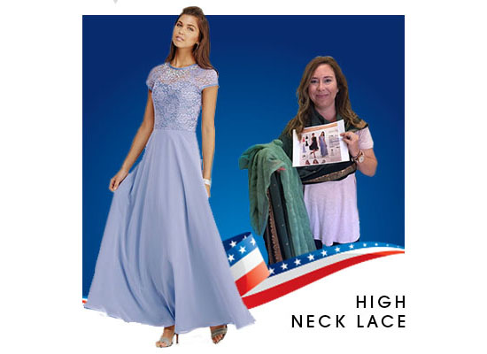 High neck lace dress 10