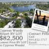 RV Lot for Sale: Cypress Woods Resort RV LOT $82,500!  Ft. Myers, FL!, Fort Myers, FL