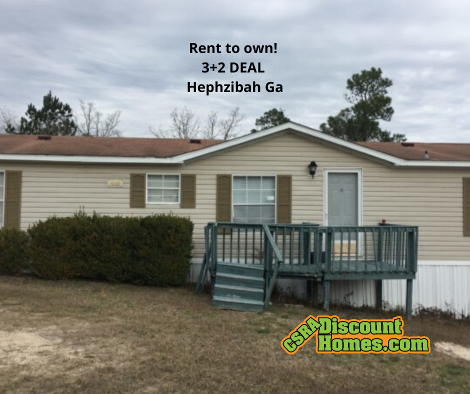 Mobile Home For Sale In Augusta, GA: Rent To Own! 3+2 DEAL