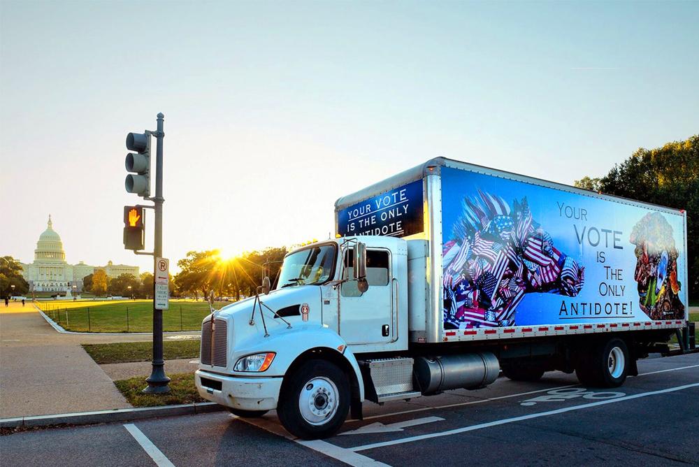 Truck Side Advertisement in Washington