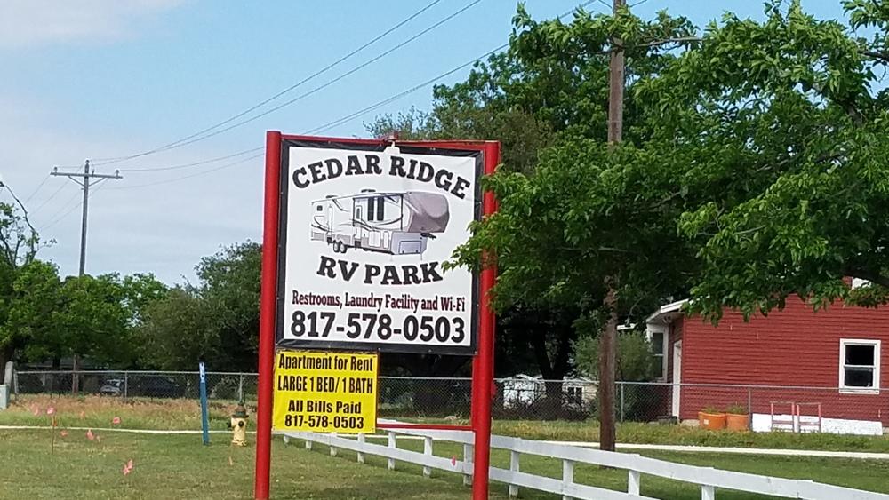 Cedar Ridge RV Park - RV park for sale in Glen Rose, TX ...