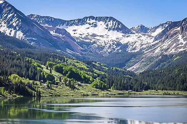By Mountain Lake