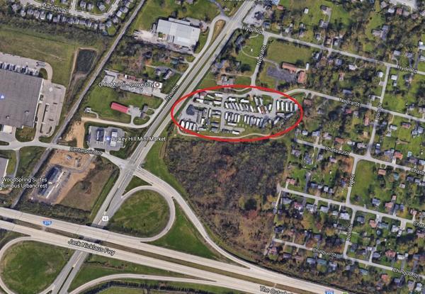Bird's eye view of Carter's Mobile Home Park