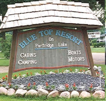 Blue Top Resort sign