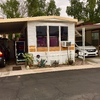 Mobile Home for Sale: Nice Park Model in Springhaven RV Resort a 55 and older community in Mesa! lot f-49, Mesa, AZ