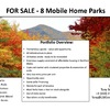 Mobile Home Park for Sale: Spectacular Northern Maine  - 8 MHP Portfolio , Presque Isle, ME