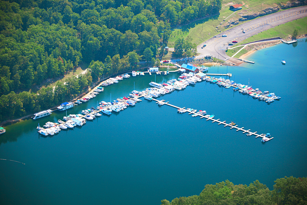Aerial - Sutton Lake Marina, WV