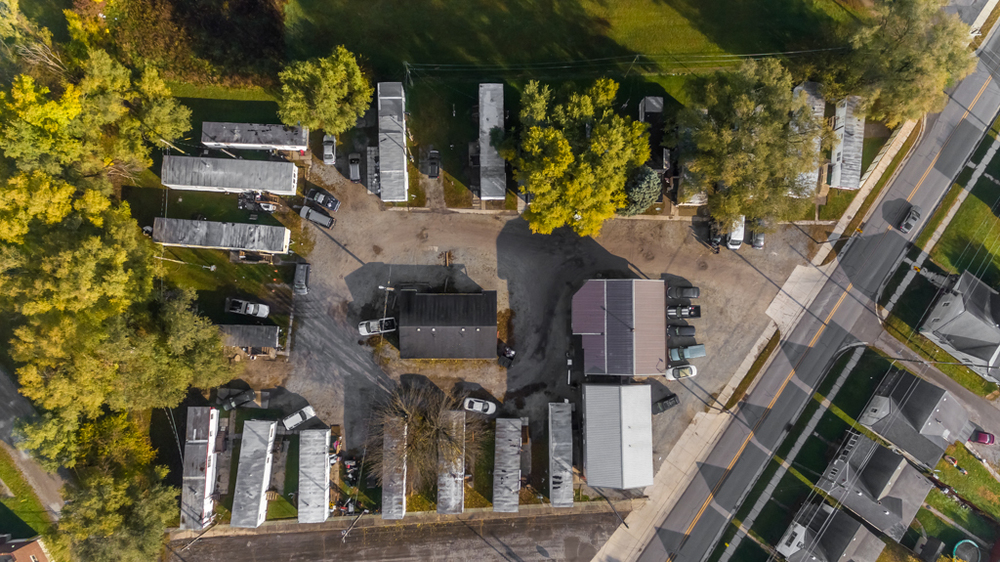 Aerial Top View BK Mobile Home Park
