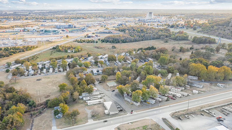 Aerial of Mobile Home Park