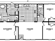 New Mobile Home Model for Sale: Cedar Bluff by Platinum Homes