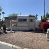 Mobile Home for Sale: Newly Reduced!  Park Model on large private, pet friendly, corner lot with 12'12' separate BR/TV room in Apache Junction #13, Apache Junction, AZ