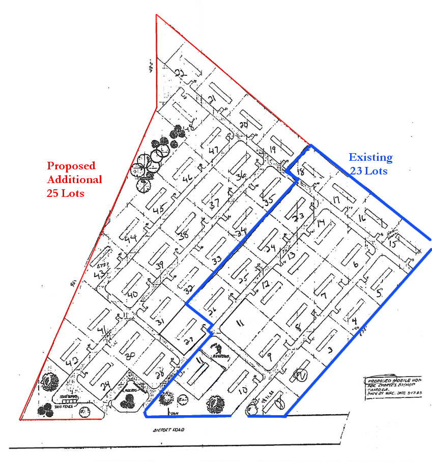 Layout of Manufactured Home Community