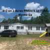 Mobile Home for Sale: 4+2 on 2 Acres PRIVATE SETTING in Blythe Ga!, Blythe, GA