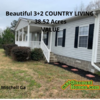 Mobile Home for Sale: Beautiful 3+2 Country Living on 38.52 ACRES, Mitchell, GA