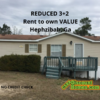 Mobile Home for Sale: REDUCED 3+2 Rent to own!, Hephzibah, GA