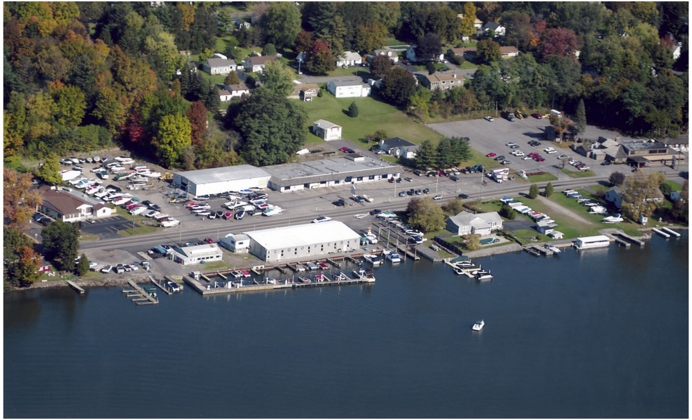 Aerial of Marina and Rentals