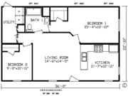 New Mobile Home Model for Sale: Houston by Cavco Homes
