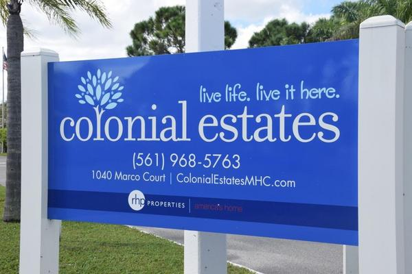 Mobile Home Park in Lake Worth, FL: Colonial Estates - Directory