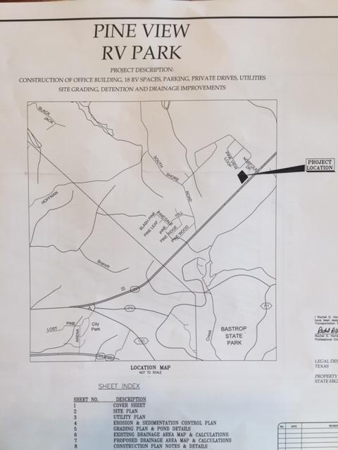 Engineering layout RV Park/Campground