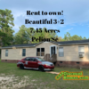 "Mobile Home for Sale: WOW ""Rent to own"" 3BR on 7Acres in Pelion SC, Pelion, SC"