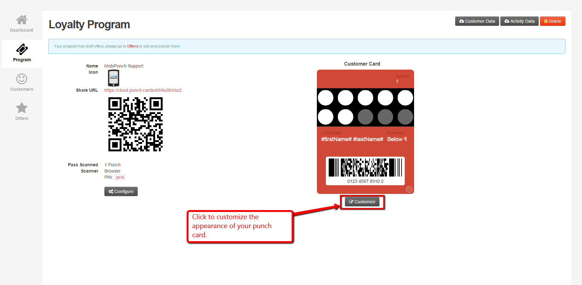 step 3 edit the appearance of your punch card brick mobile