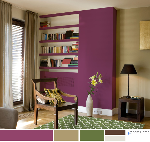 Mulberry Purple Living Room