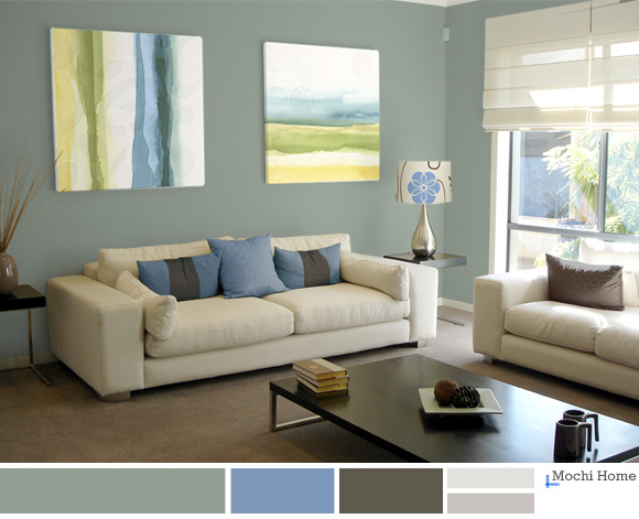 Color Study: Sage Green Living Room Ideas | Modern art you can ...