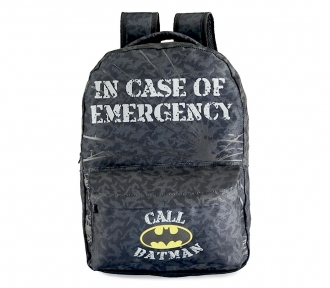 mochila batman in case mergency grande frente
