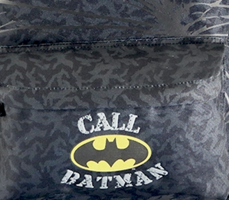 mochila batman in case mergency grande detalhe