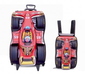 kit formula 1 mochilete e lancheira frente