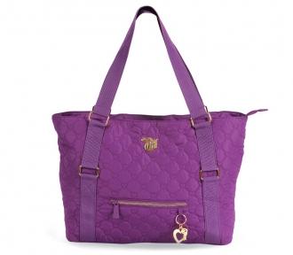 bolsa tote capricho love vii purple frente