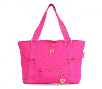 bolsa tote capricho love vii pink frente