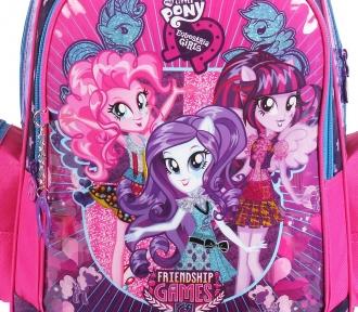 mochila equestria girls detalhe