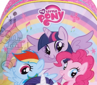 mochila my little pony grande detalhe