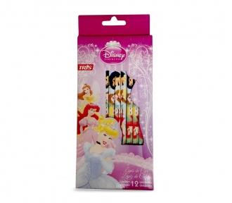 lápis de cor princesas frente