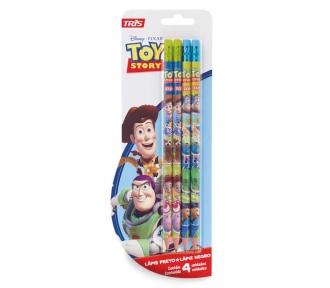 lápis preto toy story 4 unidades frente