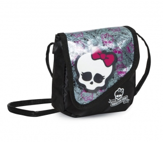 bolsinha monster high 15 skullette frente