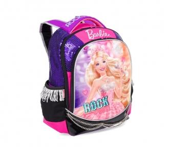 mochila barbie rockn royals roxo grande frente