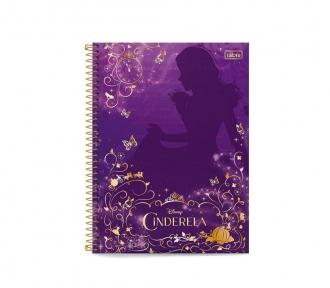 caderno universitario cinderela roxo frente