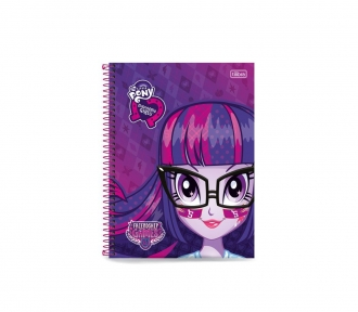 caderno equestria girls universitario frente