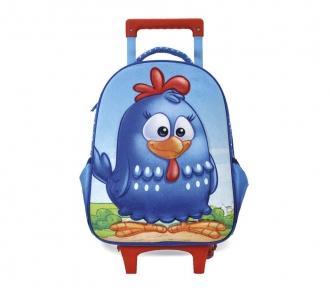 mochilete galinha pintadinha 3d média frente