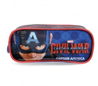 estojo capitão america war duplo frente