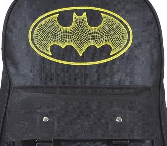 mochila batman teen black grande detalhe