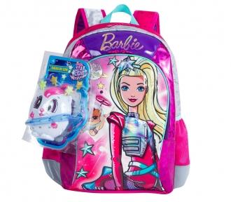 Mochila Barbie Aventura nas Estrelas Verde Grande 7803