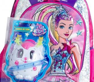 Mochila Barbie Aventura nas Estrelas Rosa Grande 7797