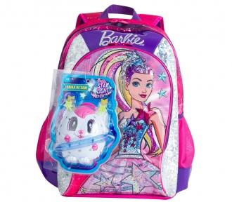 Mochila Barbie Aventura nas Estrelas Rosa Grande 7798