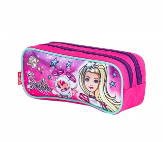 Estojo Barbie Aventura nas Estrelas Verde Duplo 8044